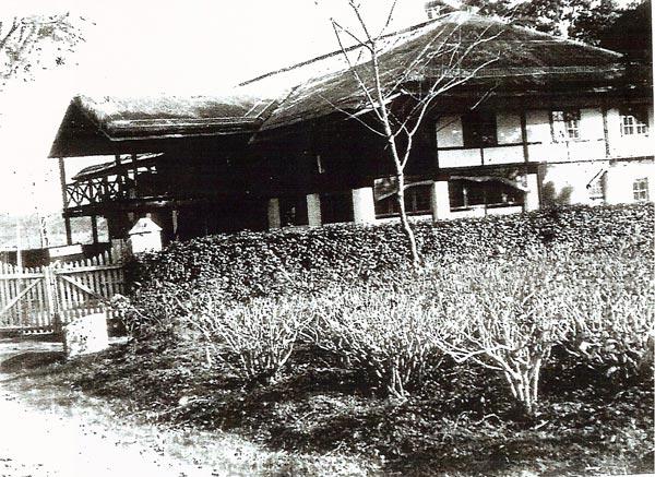 CNAC bungalow at Dinjan, India. Photo courtesy of CNAC Capt. Giff Bull